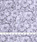 Check It Jaquard Poly Yory Fabric 57\u0022-Gray White 2-Tone Floral