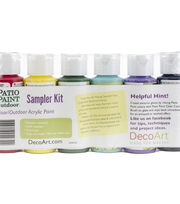 DecoArt Patio Paint Outdoor Acrylic Sampler Kit, , hi-res