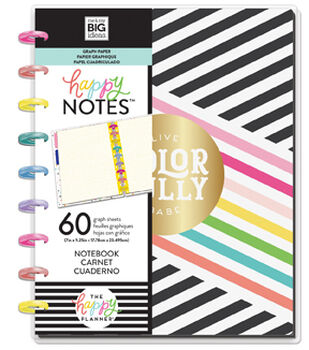 The Happy Planner Medium Notebook with 60 Sheets-Live Colorfully, Graph