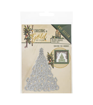 Find It Trading Amy Design Die-Tree Hobbydots, Christmas In Gold