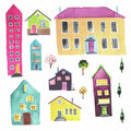 York Wallcoverings Wall Decals-Watercolor Village