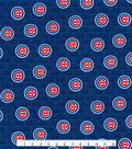 Chicago Cubs Cotton Fabric -Mini Print