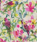 Novelty Cotton Fabric 44\u0022-Watercolor Parrots