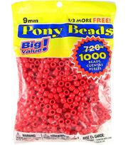 Darice Pony Bead Big Value Pack 9mm, , hi-res