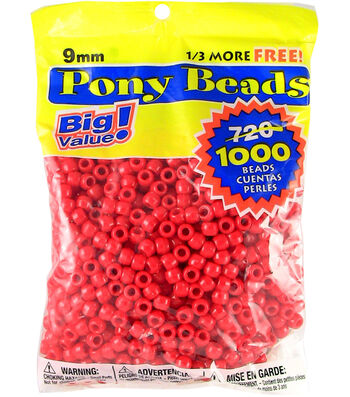 Darice Pony Bead Big Value Pack 9mm