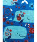 Doodles Interlock Knit Fabric 57\u0027\u0027-Whales Tale