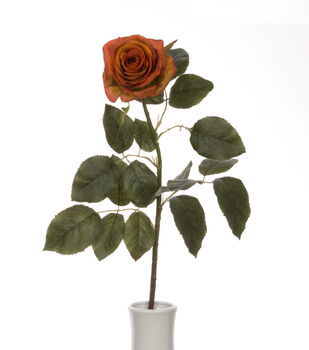 "Bloom Room 27.5"" Confetti Rose Stem-Orange Rust"