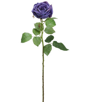 Bloom Room 27'' Real Touch Rose Stem-Purple