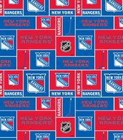 New York Rangers Cotton Fabric -Block, , hi-res