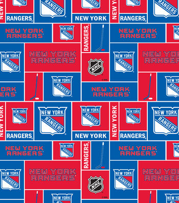 New York Rangers Cotton Fabric -Block
