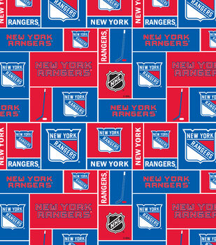 New York Rangers Cotton Fabric Block