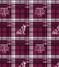 Texas A&M University Aggies Fleece Fabric -Plaid