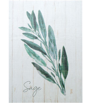 In the Garden 5.5''x7.25'' Wood Block Wall Decor-Sage