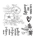 Kaisercraft Blessed 7 pk Clear Stamps