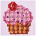 Diamond Dotz Diamond Embroidery Facet Art Kit 4.75\u0027\u0027X4.75\u0027\u0027-Cup Cake Yum