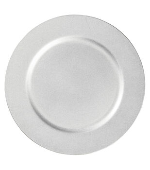 """Hudson 43 Candle & Light Collection 13"""" Decorative Plate-Silver"""