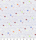 Nursery Cotton Fabric 43\u0027\u0027-Alphabet