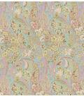 Brocades Fabric 55\u0022-Gold and Aqua