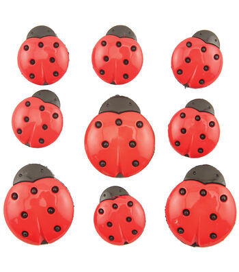 Buttons Galore Ladybugs Buttons