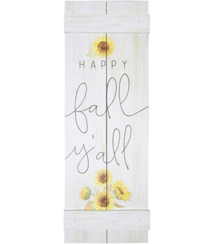 Simply Autumn Pallet Wood Wall Decor-Happy Fall Y'all & Sunflowers