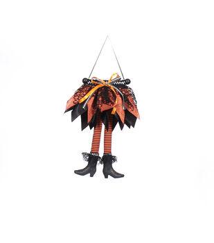 Maker's Halloween Witch Legs Door Hanger-Orange & Black