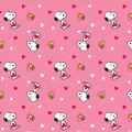 Valentine\u0027s Day Snoopy & Woodstock Cotton Fabric
