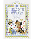 Janlynn Welcome Baby Boy Counted Cross Stitch Kit