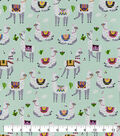 Snuggle Flannel Fabric-Aztec Print on Llamas