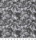 Keepsake Calico Glitter Cotton Fabric 43\u0027\u0027-Gray Snake Skin Crackle