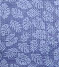 Doodles Juvenile Apparel Fabric -Navy Leaf Pucker