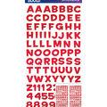 Sticko - Red Metallic Funhouse Small Alphabet Stickers