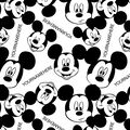 Disney Mickey Mouse Print Fabric by Springs Creative-Heads Allover