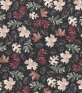 Harvest Cotton Fabric 44\u0022-Watercolor Leaves and Pinecones