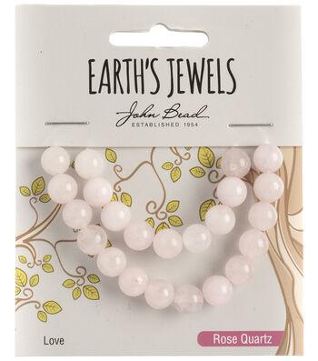 Earth's Jewels Semi-Precious Round 8mm Beads-Rose Quartz