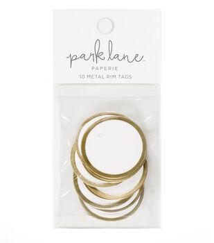 Park Lane Paperie 10 pk Metal Rim Tags-Gold & White