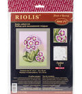 RIOLIS Satin Stitch Kit 5\u0022X6.25\u0022-Primroses