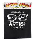 Attitude Artist Apron Black-Really Cool Artist