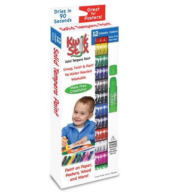 Kwik Stix Solid Tempera Paint Sticks-Classic Colors