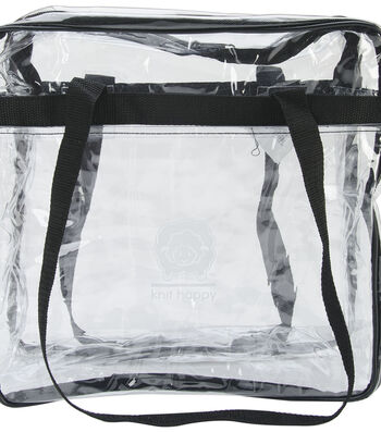 K1C2 Knit Happy Tote-Clear