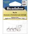 Enhancer Bails 5/Pkg-Pear Shaped-Silver