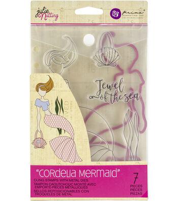 Prima Marketing Julie Nutting Cling Stamps & Metal Dies-Cordelia Mermaid