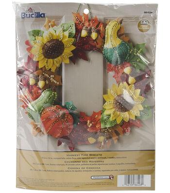 "Harvest Time Wreath Felt Applique Kit 15"" Round"