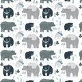 Super Snuggle Flannel Fabric-Winter Bear Friends