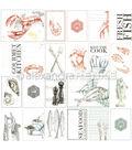 Alexandra Renke Cooking Paper 12\u0022X12\u0022-Seafood Cut-Aparts
