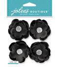 Jolee\u0027s Boutique Dimensional Stickers-Black Gem Florals