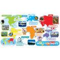 Scholastic World Continents Bulletin Board Set, 2 Sets