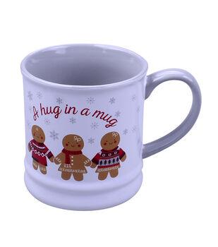 Handmade Holiday Christmas 16 oz. Mug-Gingerbread & A Hug in a Mug