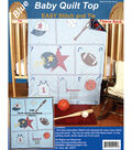 Fairway Stamped Baby Quilt Top Sports Blue