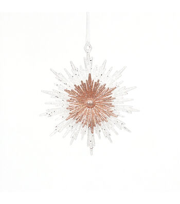 Maker's Holiday Christmas Snowflake Burst Ornament-Rose Gold