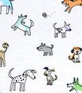 3 Yard Pre-Cut Snuggle Fabric 42\u0022-Sketched Shadow Pups
